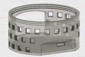 curva tipo boveda para facilitar cerrar el espacio