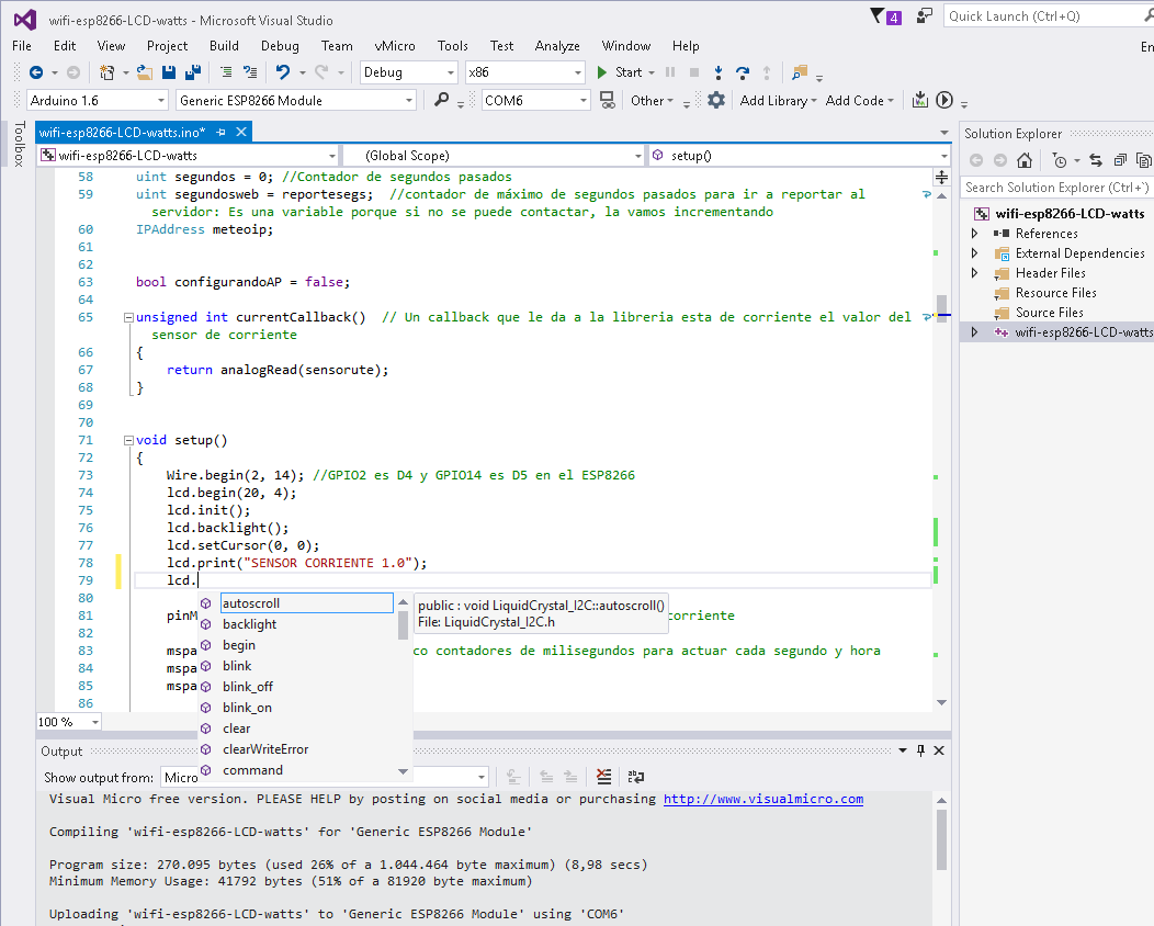 Visual Studio Community y plugin Visualmicro