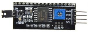 adaptador i2c serial para pantalla LCD